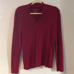 TALBOTS Womens Red Top